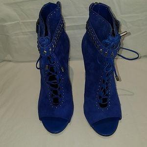 Brian Atwood Bflamotte peep-toe - Electric Blue